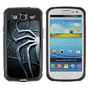 SHIMIN CAO@ Spider Superhero Suit Rugged Hybrid Armor Slim Protection Case Cover Shell For S3 Case ,I9300 Case Cover ,I9308 case ,Leather for S3 ,S3 Leather Cover Case