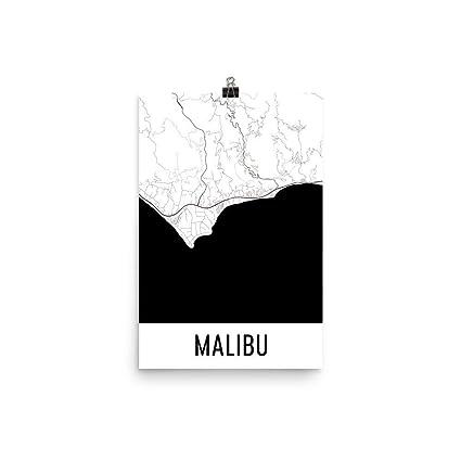 Malibu Poster, Malibu Art Print, Malibu Wall Art, Malibu Map, Malibu City