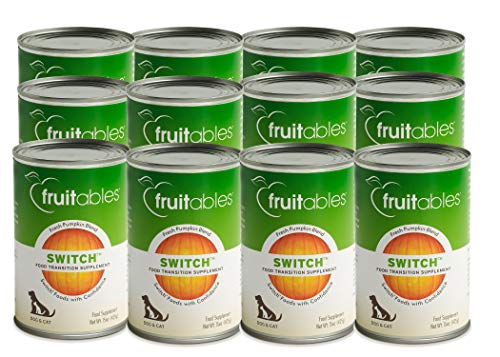 Fruitables Switch Food Transition Pumpkin Supplement for Pets 15 Ounce, Pack of 12