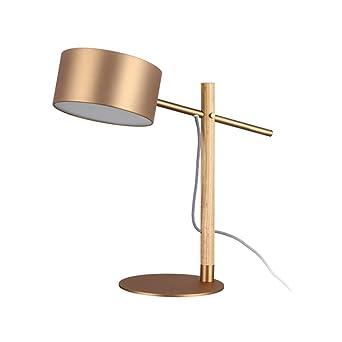 Lámpara de metal mesa, lámpara de mesa retro, lámpara de ...