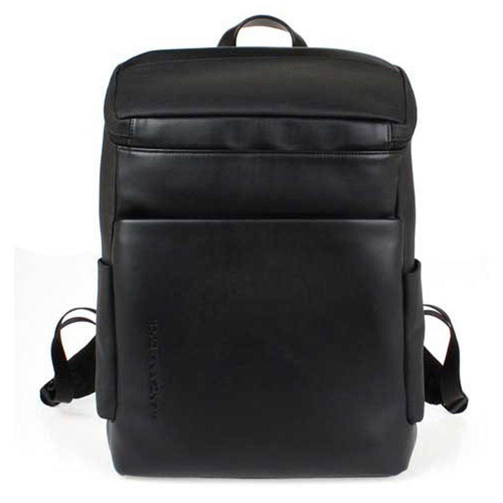 MANDALINA DUCK Casual Backpack School Laptop Bag WHALE LINE & Free Gift (Key Ring) (Black)