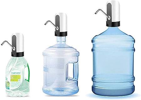 JANRON-Water Pump Pompe /à Eau /électrique sans Fil Button Distributeur /à Portable Distributeur Automatique de Pompe /à Bouteille de Gallon avec Interrupteur pour la Maison Bureau Cuisine Noir//Blanc