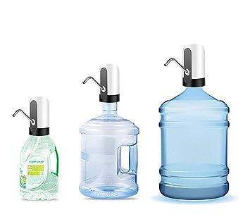 JANRON-Water Pump Bomba dispensador de Agua para Botellas y garrafas Dispensador de Bomba de Agua Recargable Dispensador Inalámbrico Eléctrico USB para ...