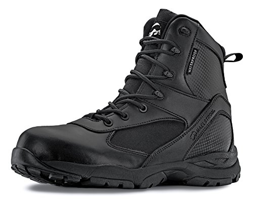 Maelstrom Men's TAC ATHLON Black Tactical Work Boots Law Enforcement, Security, Work and Military | Athletic, Waterproof, Breathable, Comfortable | Lightweight 17.5 oz | One Year Warranty