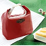 wine refrigerator compactor - MIJORA-Waterproof Thermal Cooler Insulated Lunch Box Portable Tote Storage Picnic Bag b(wine red)