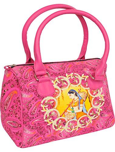 Exotic India - Bolso de tela de Piel para mujer
