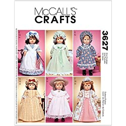 McCall's Patterns M3627 18-Inch Doll Clothes, One Size Only