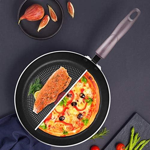 Chun Li Poêle à frire Poêle à frire Poêle à frire antiadhésive Cuisinière à induction Matériau composite général Résistant à l'usure et durable casserole (Size : 28x28x4.3cm)