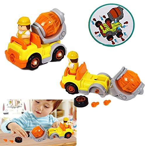 Cement Truck | Take Apart Electric Toy Construction Truck - 6 Piece