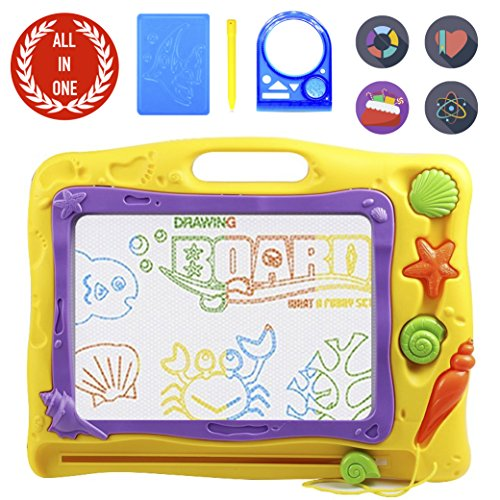 Wild Kids Republic Magnetic Drawing Board, Big Size Megasketcher Drawing Doodle Toy, Write and Learn Creative Educational Toys Gift for 3+ Year Old Boys and Girls by Wild Kids Republic