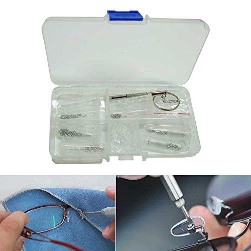Eyeglass Sun Glasses Screw Nut Nose Pad Optical Repair Tool Assortment Kit Set - Pad Nose Screws