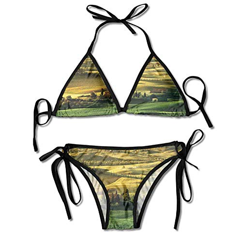 kjhep lk Women's Two Pieces Print Bikini Maya One Piece Swimsuit Bikini Sets Bathing Suit