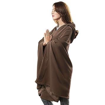 KSUA Zen Meditación Budista Capa con Capucha Capa Mujer ...