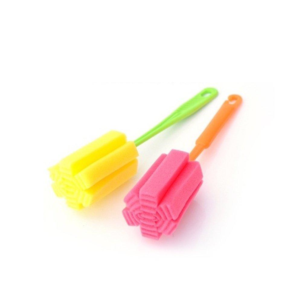 Deinbe Botella 2pcs Esponja Copa Cepillo de pl/ástico PP Cepillo de Limpieza de Utensilios de Cocina m/ás limpios