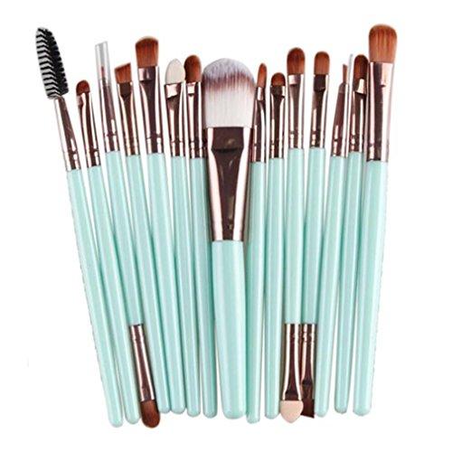 Longra 15 PC / Sätze 5 Farben Lidschatten Stiftung Augenbraue Lippenpinsel Make-up Pinsel Werkzeug (Himmelblau)