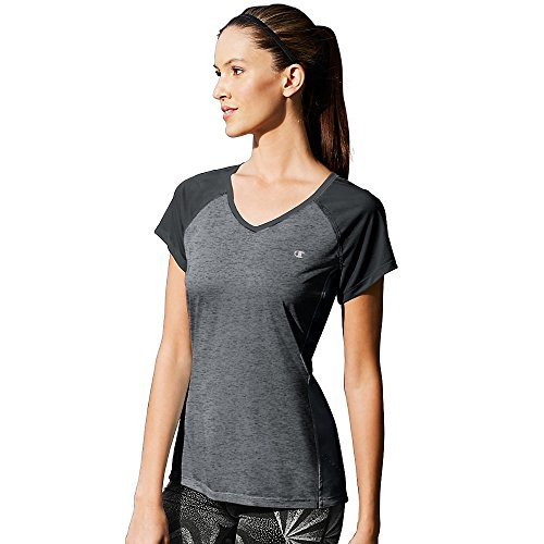 Champion Women's Marathon Tee_Night Grey Heather/Night Grey_M