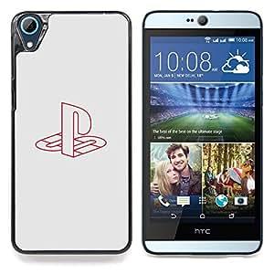 "Qstar Arte & diseño plástico duro Fundas Cover Cubre Hard Case Cover para HTC Desire 826 (Estación de juegos"")"