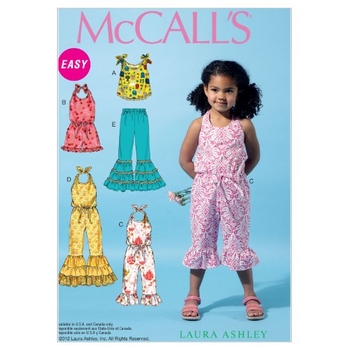 McCalls Patterns Childrens Jumpsuits 2 3 4 5