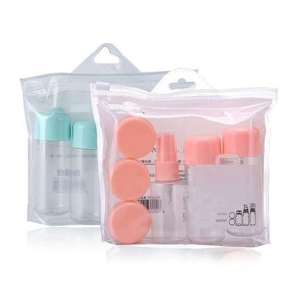 Rocita Kit de Viaje Loción Vacía Estuche de Maquillaje Cosmético Botella de Contenedor de Aerosol Botella