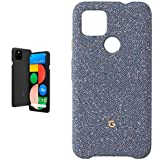 Pixel 4a with 5G - Just Black with Google Pixel 4a Case (Blue Confetti)