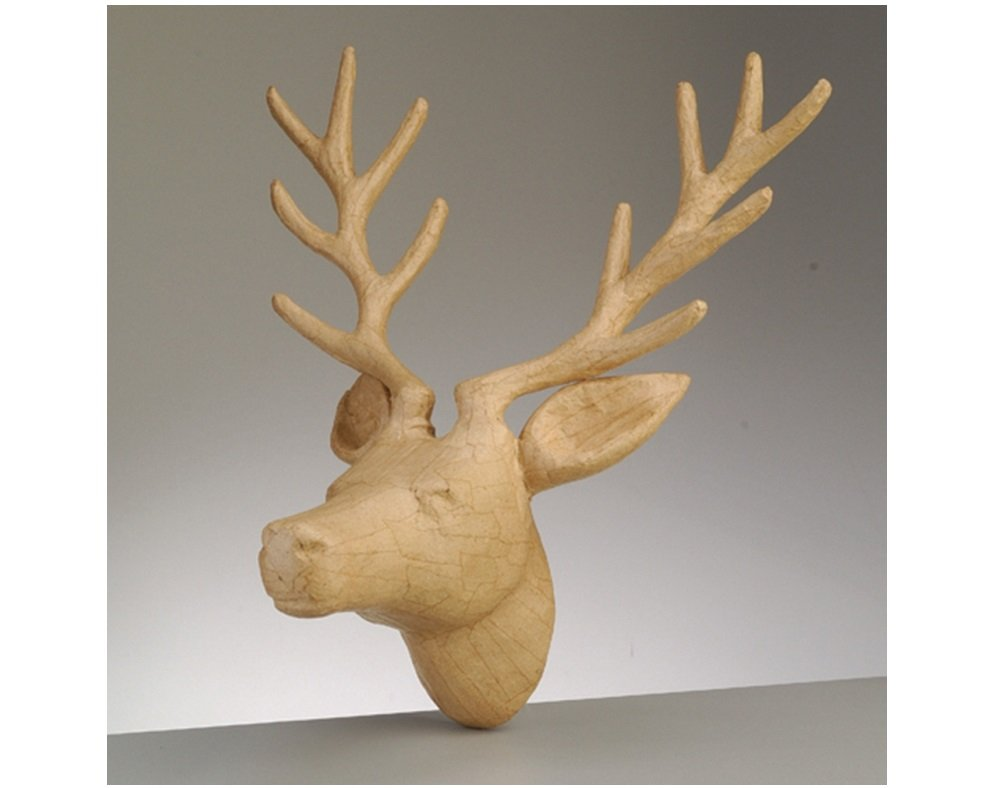 330mm Giant Paper Mache Reindeer or Stag Head to Decorate for Christmas Crafty Capers