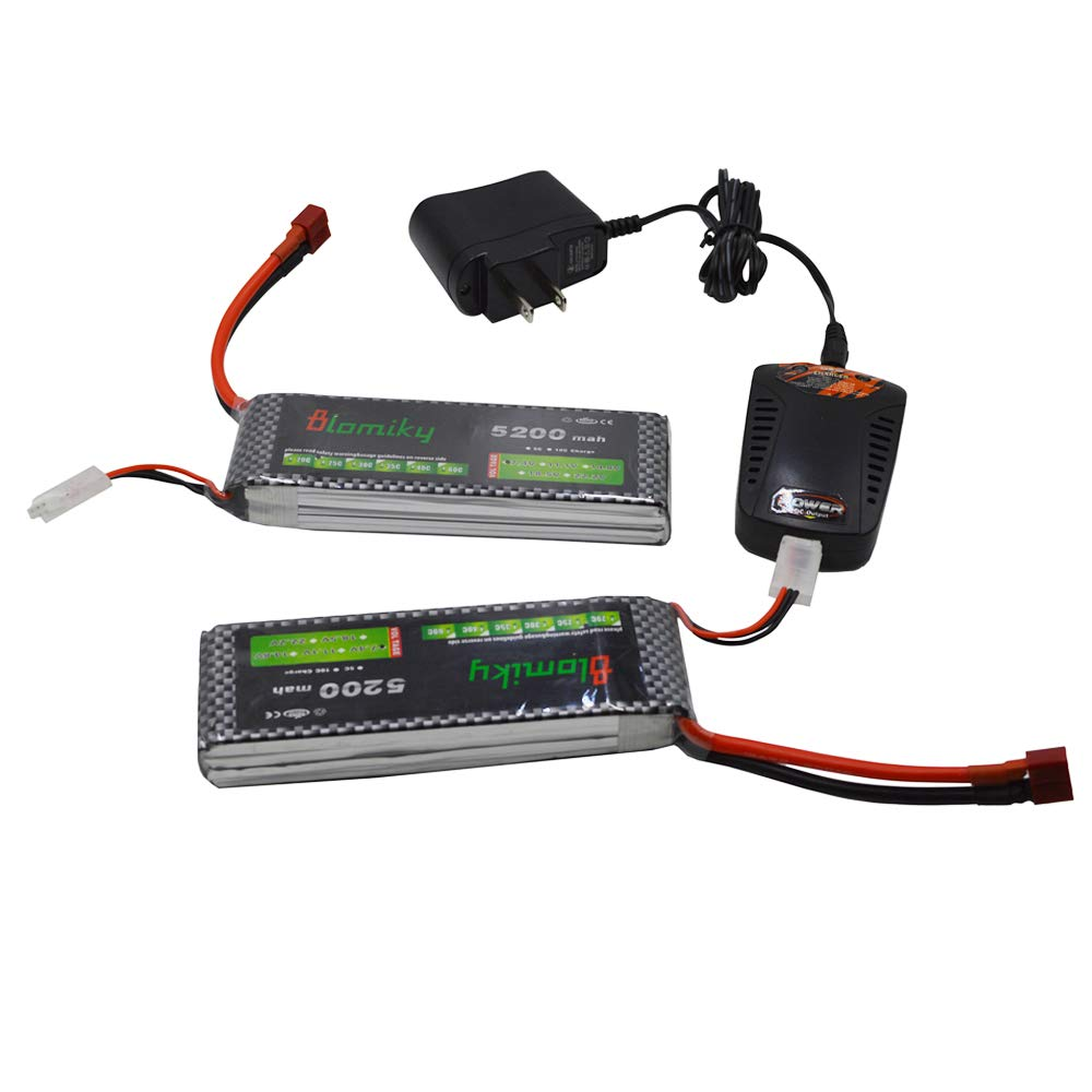 Amazon.com: Blomiky - Lote de 2 baterías Lipo de 7,4 V 5200 ...