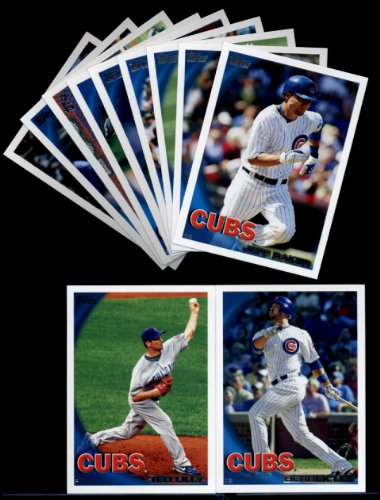 2010 Topps Baseball Cards Complete TEAM SET: Chicago Cubs (Series 1 & 2) 22 Cards including Lee, Lilly, Soriano, Soto, Aramis, Fukodome, Russell, Baker, Gregg, Colvin & more!