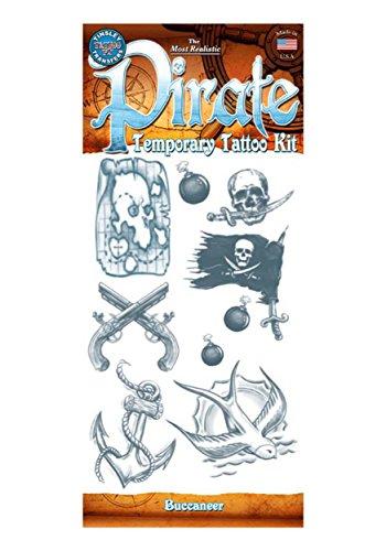 Temporary Pirate Tattoos - 4