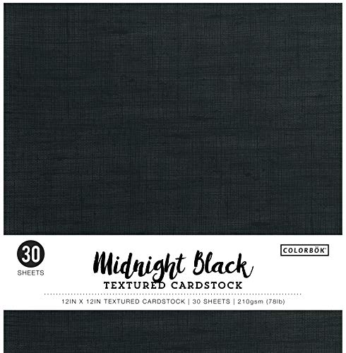 Black Card Stock - Colorbok Textured Cardstock Paper Pad, 12