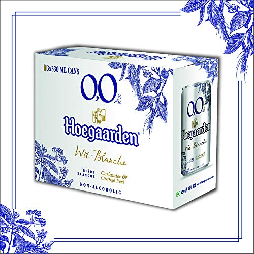 Hoegaarden 0.0 Non Alcoholic Pouch, 3 X 330 ml