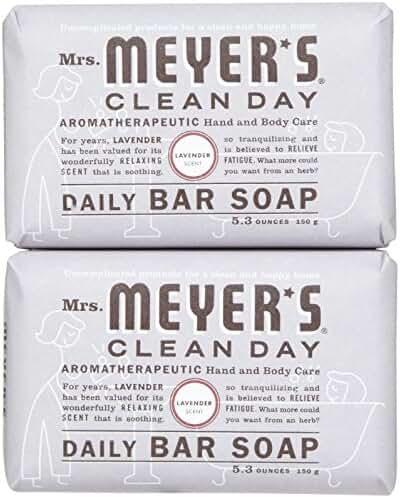 Mrs. Meyer's Clean Day Daily Bar Soap, Lavender, 5.3 oz, 2 pk