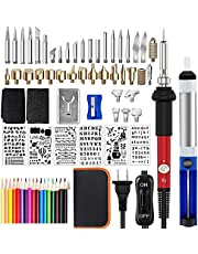 Wood Burning Kit,Emazon Onlline Professional Soldering Iron Tool with On-Off Switch,71PCS Pyrography Wood Burning Pen Tool and Accessories for Wood Burning/Carving/Embossing/Soldering [Upgraded]