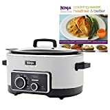 Ninja 6 Quart 3-In-1 Slow Cooker with Recipe Book (Certified Refurbished)