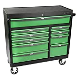 OEMTOOLS 24595 Black and Green 41'' 10 Drawer Cabinet
