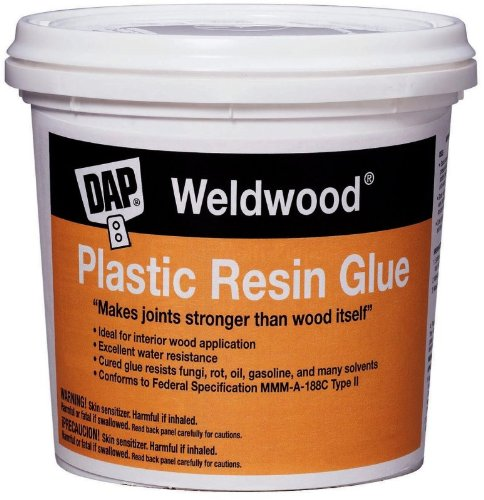 4 Pack Dap 00204 Weldwood Plastic Resin Glue - Tan 4-1/2 lbs