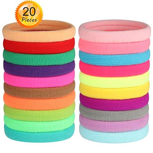 ir Ties Seamless Fabric Ponytail HoldersMixed Colors (Fabric Nylon Colour)