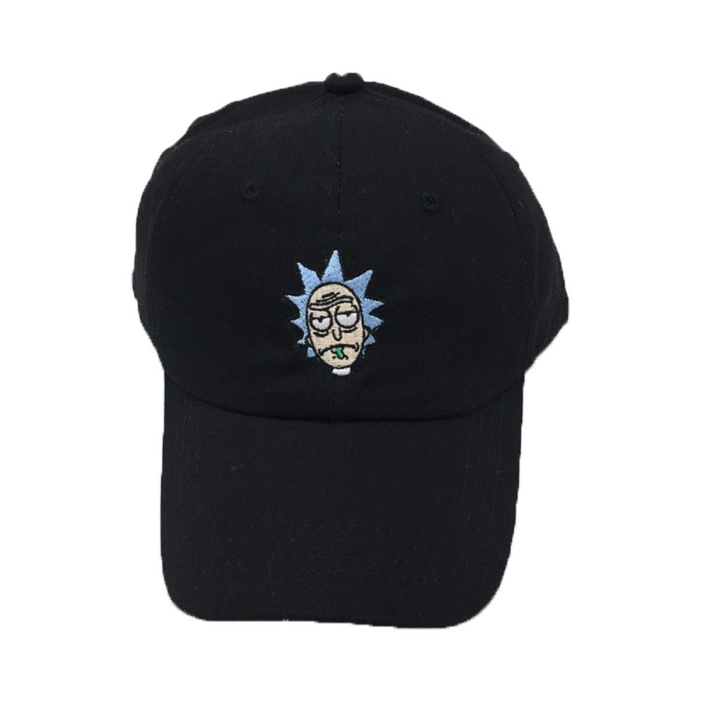 ValuePack Rick Baseball Cap Cosplay Costume Accessoires Adulte Broderie Snapback Hat Cartoon Coton Peaked Hat pour le Printemps