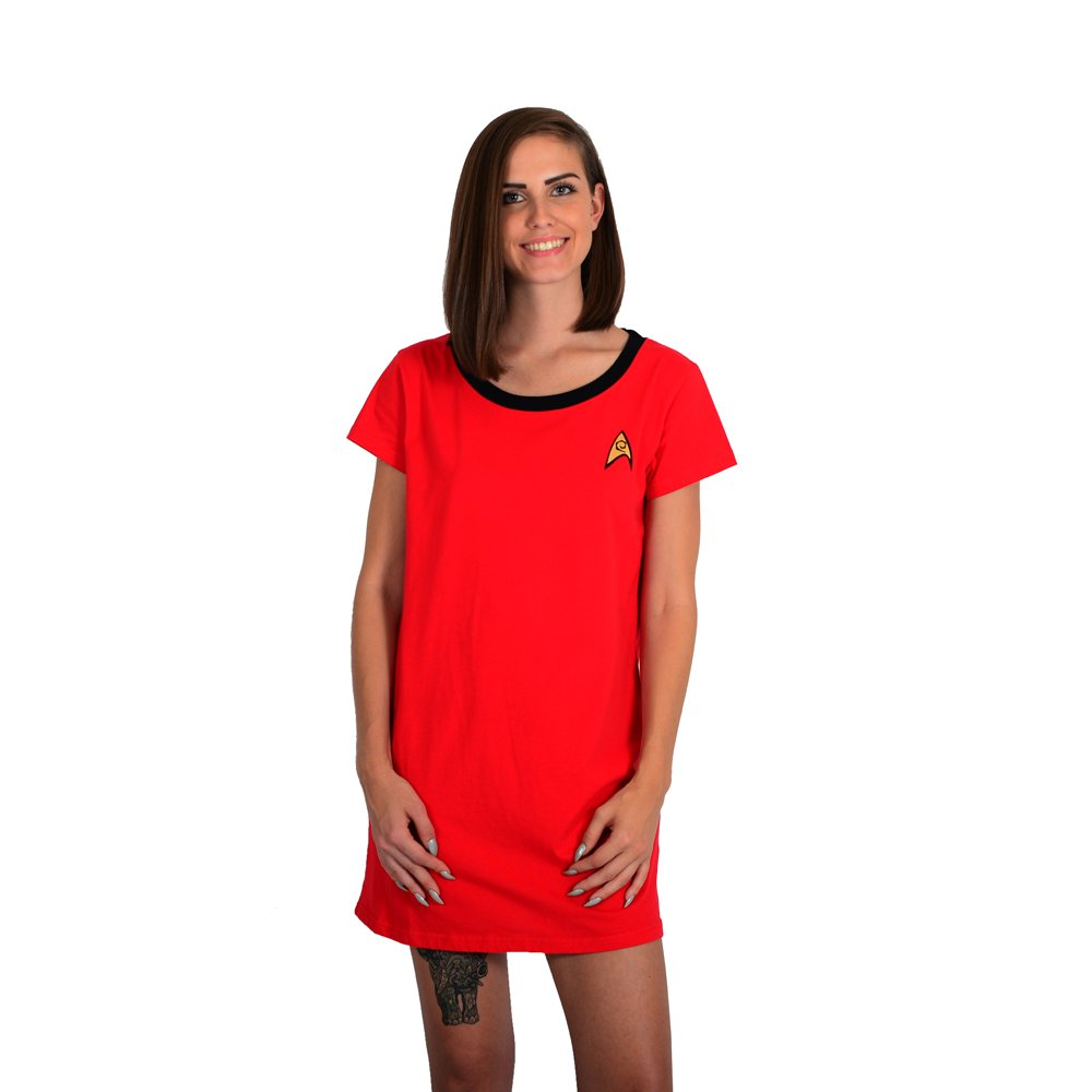 Star Trek Red Uhura Ladies Sleep Shirt - XL by Robe Factory (Image #1)