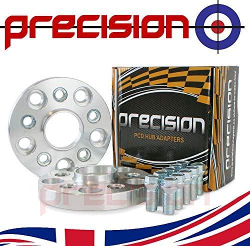 Precision 1 Pair of 20mm Hubcentric PCD Adapters 5x112 Hub to 5x100 Wheel for /Àudi A4 B6 PN.SFP-2AD05+10SB01120