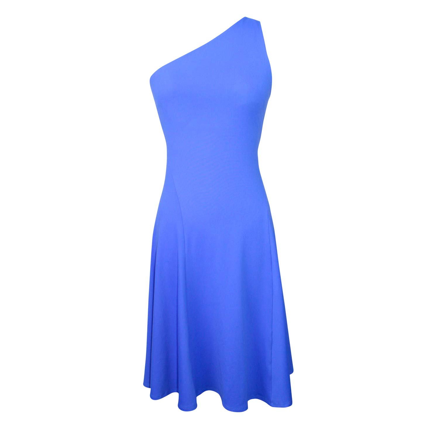 Susana Monaco Womens Ivy One Shoulder Flare Dress Dazzling bluee Extra Small, Small, Medium, Large