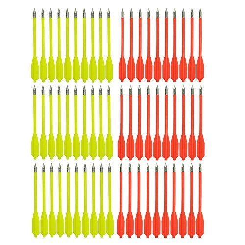 - SPEED TRACK 6 1/4Inch 50-80lb Crossbow Bolts Target Arrows Practice Hunting Plinking (Pack of 60-Red and Yellow)