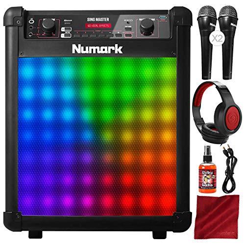 Cdg Karaoke System Portable (Numark Sing Master Portable Karaoke Sound System with Headphones and Accessory Bundle)