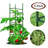 Growsun 5 Ft Tomato Cage Plant Support Garden Stakes,5 Pack