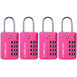 TSA Compatible Travel Luggage Locks, Inspection Indicator, Easy Read Dials- 1, 2 & 4 Pack