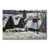 This ready to hang, gallery wrapped art piece features a village covered in snow. Paul Gauguin was a leading Post-Impressionist painter. His bold experimentation with coloring led directly to the Synthetist style of modern art while his expression of...