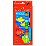 Faber-Castell - 12 Count- Gel Sticks with Free Brush - Premium Art Supplies For Kids