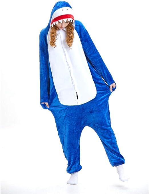 FAMLYJK Pijamas de Disfraz de Mono Animal de tiburón Adulto para ...