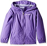 Columbia Little Girls' Switchback Rain Jacket, Grape Gum, XXS