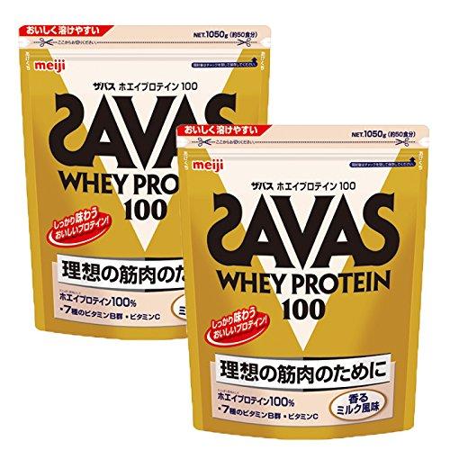 ザバス アクア ホエイプロテイン100 香るミルク風味 1050g(約50食分)×2個セット B07CG4J7XY