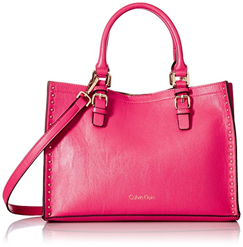 Calvin Klein Unlined Novelty Casual Tote, Miami Pink by Calvin Klein